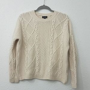 TOPSHOP cable knit sweater US 6 cream ivory